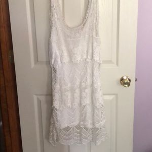 White lace dress 👗